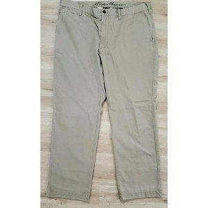 Eddie Bauer Mens Flannel Lined Tan Chino Pants 40